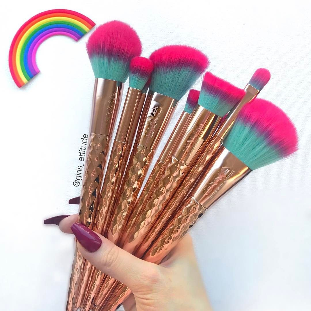 The Rainbow Collection 10pcs Makeup Brush Set (With