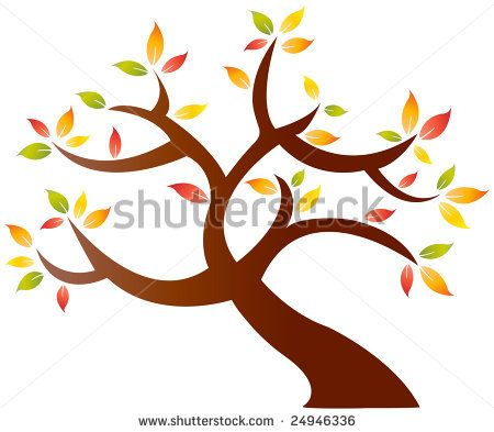 simple drawings of trees   Vector abstract drawing of a ...