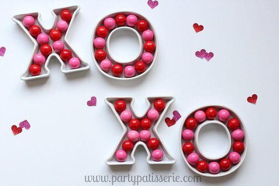 Ceramic Letter Dishes  Valentine's Day Wedding Birthday
