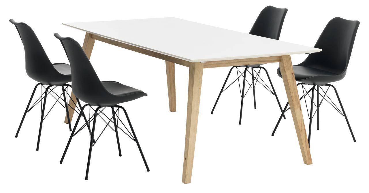Tafel TARUP + 4 stoelen zwart KLARUP | JYSK | Ons huis | Pinterest