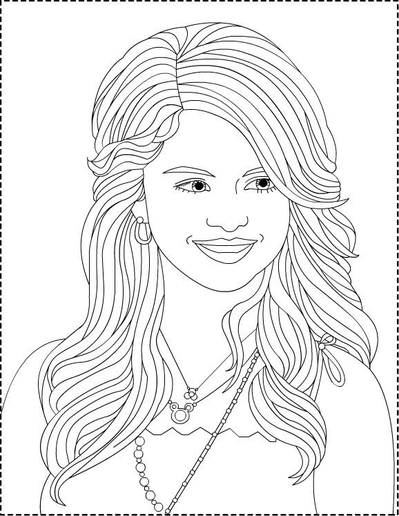 Coloring Pages To Print Selena Gomez Coloring Pages 3 Disney