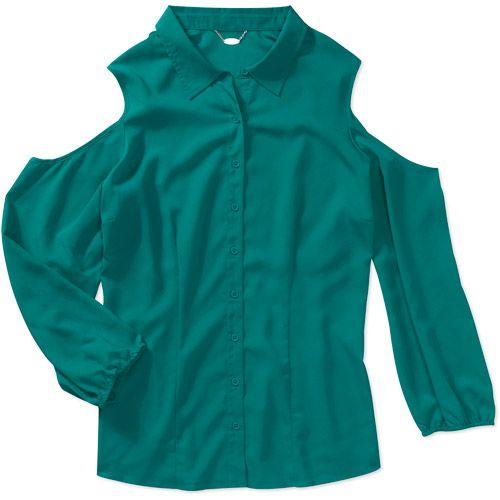 Women S Plus Size Woven Cold Shoulder Blouse 14 88 At Walmart Com
