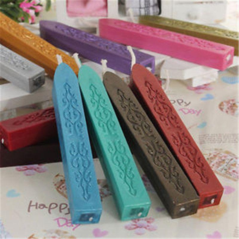 여러 가지 빛깔의 씰링 왁스 스틱 스탬프 왁스 스트립 브랜딩 페인트 스탬프 왁스 문서 밀봉