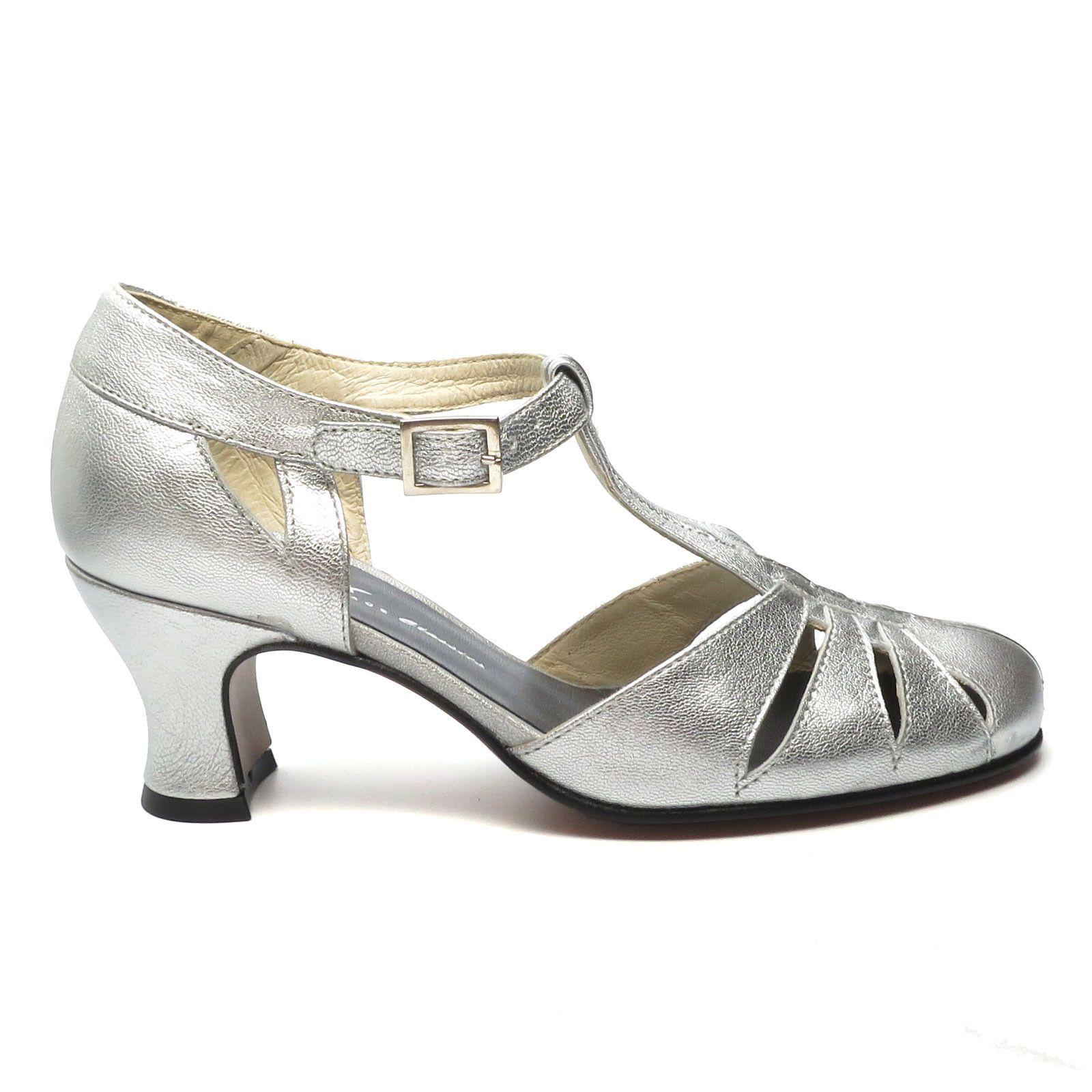 Balboa Metallics Vintage High Heels Swing Dance Shoes Heels