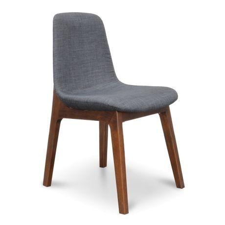 Dining Chair  Charcoal Cushion  Walnut Legs Cozy Dining Chair  Charcoal Cushion  Walnut LegsCozy Dining Chair  Charcoal Cushion  Walnut Legs Cozy Dining Chair  Charcoal C...