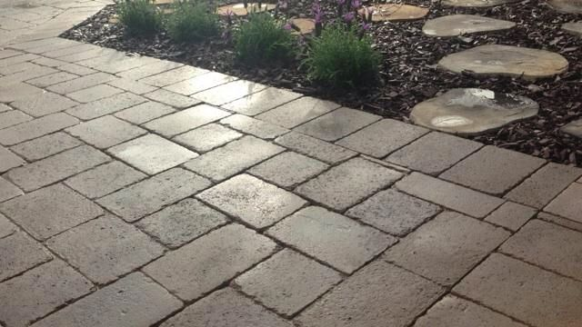 Thin Paver 1 4 Thick Lays Over Existing Walkway Or Patio Backyard Projects Front Patio Patio