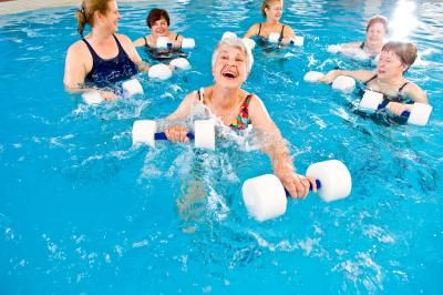 more water aerobics instructions
