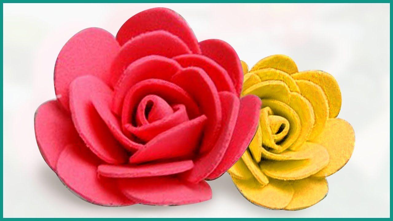 Easy Foam Rose Foam Sheet Flowers Making Foam Sheet Diy Craft