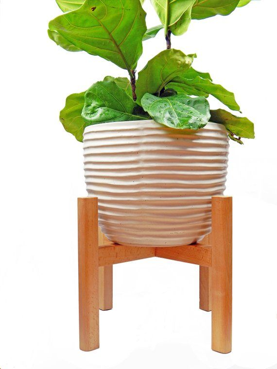 Large Plant Stand Mid Century Modern Planter Modern Wooden Plant Stand Tall Pot Stand Indoor Plant S Plant Stand Indoor Wooden Plant Stands Plant Stand