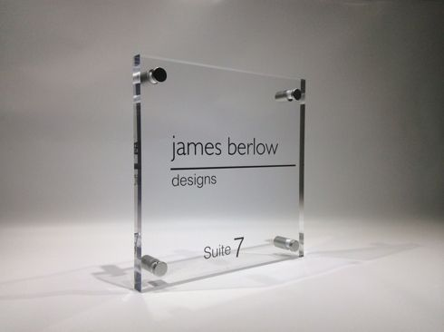 Office Door Signs in Beautiful Glass Acrylic   Project: Offices ...