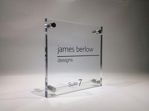 Plate in Plexiglass Nameplate Sign Custom Advertising Mail Door