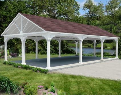 20' x 36' vinyl gable ramada   carport designs, gable roof
