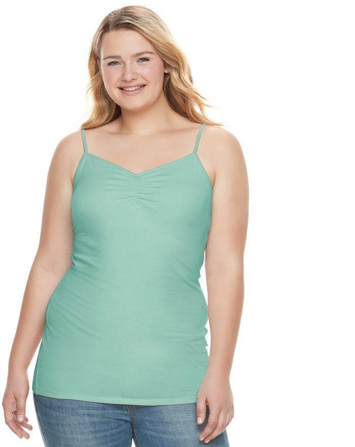 ecde44f5357 Juniors  Plus Size SO® Solid Tunic Camisole