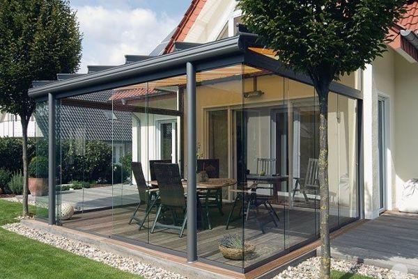 Holzboden Im Wintergarten verglaste veranda holzboden kies участок holzboden