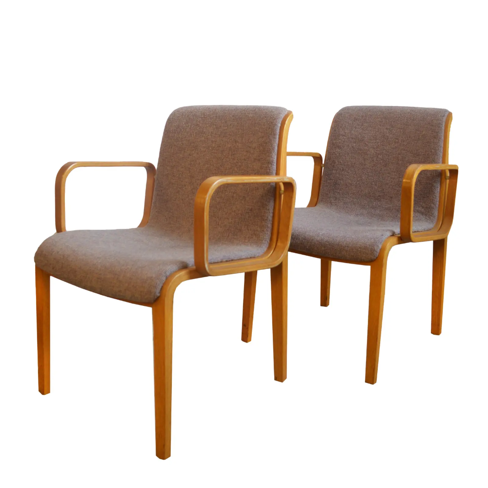 1980s Vintage Bill Stephens For Knoll Dining Chairs A Pair