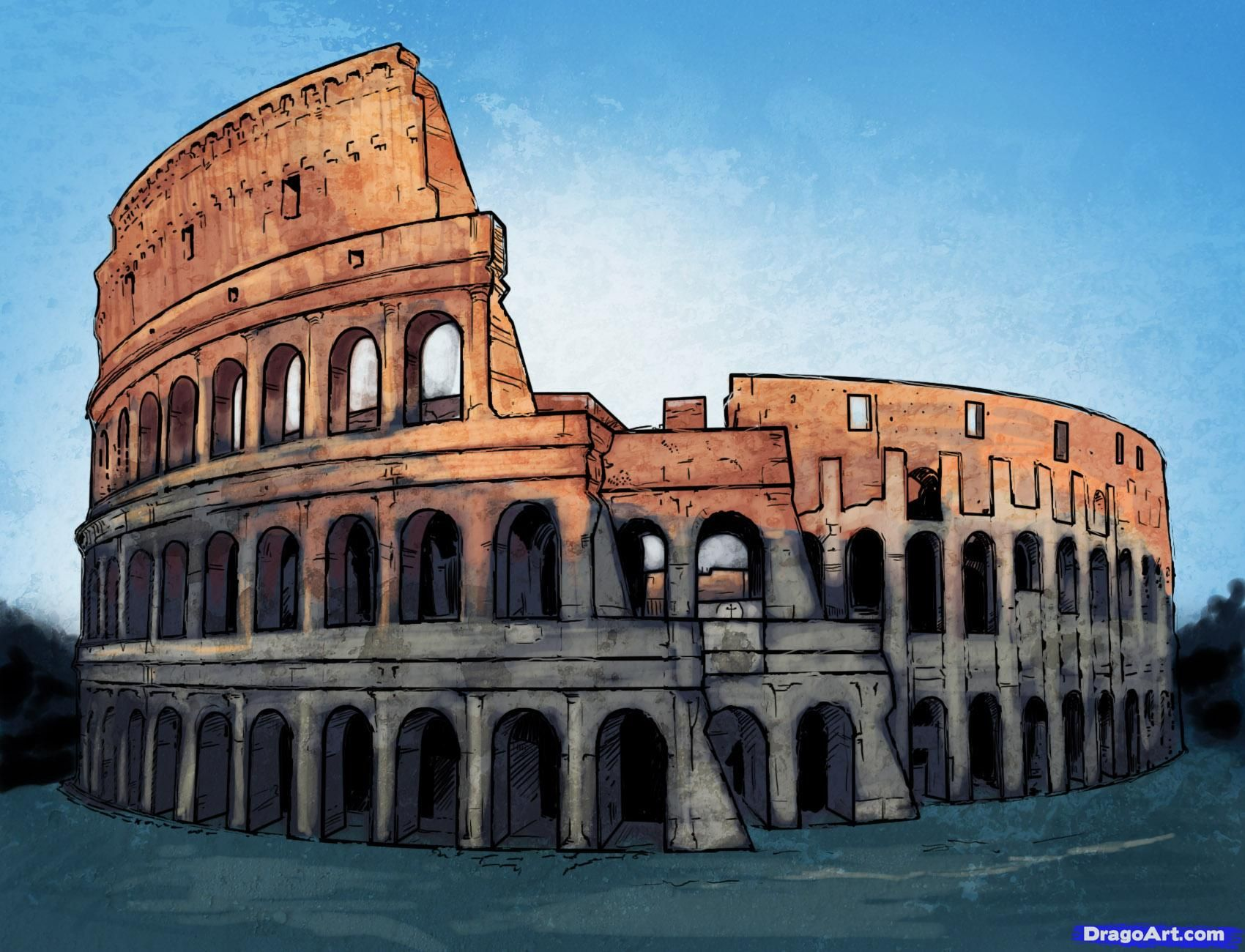 How To Draw The Colosseum - Chapter 1