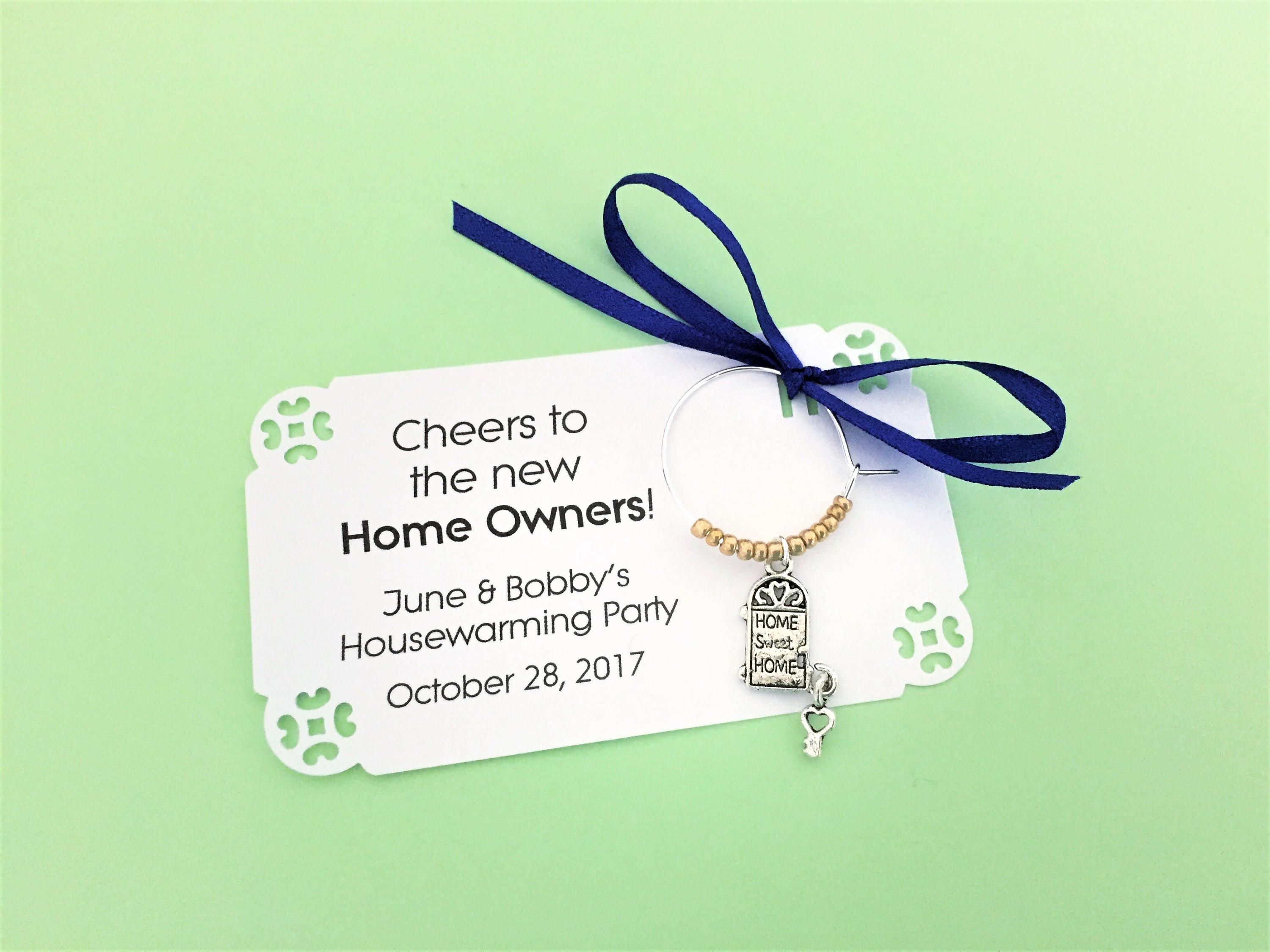 Housewarming Party and New Homeowner Party Favors. Wine Charm ...