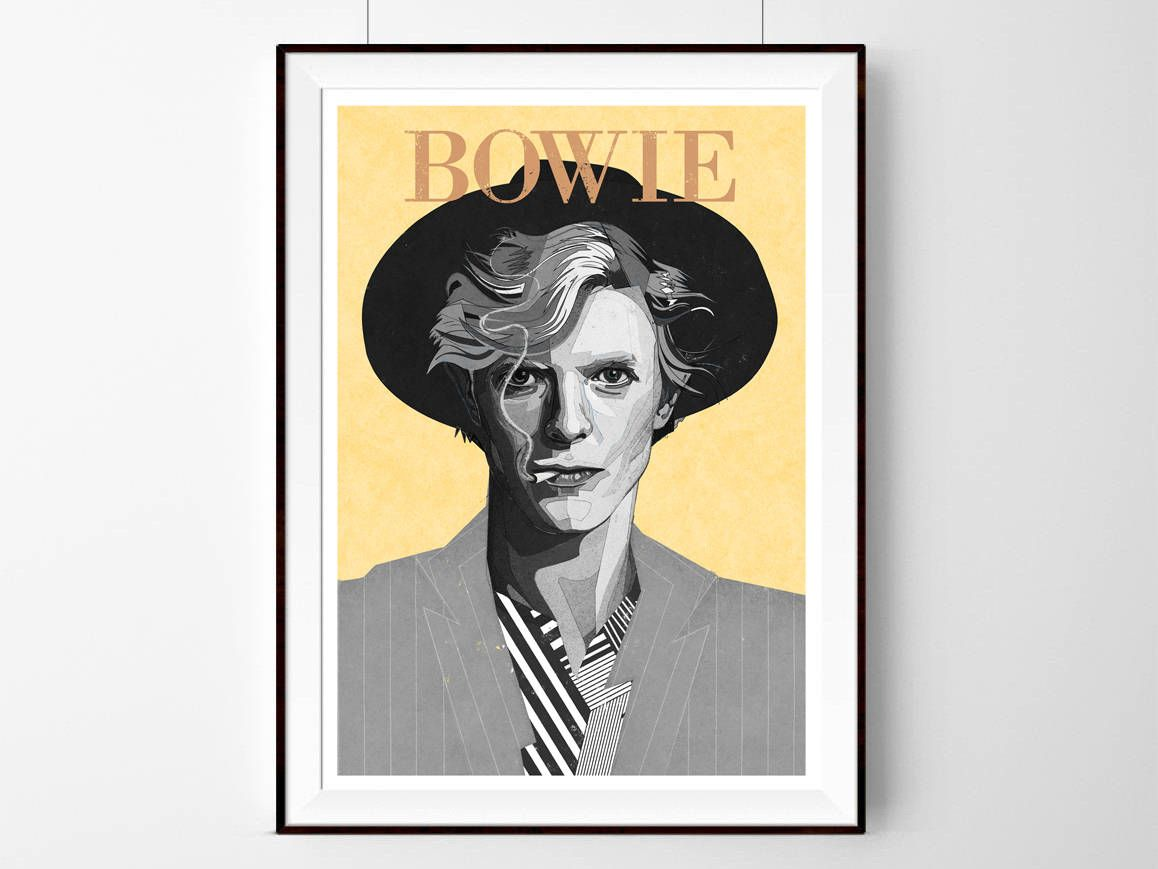 David Bowie Inspired print | lIlustration art giclée print |music ...