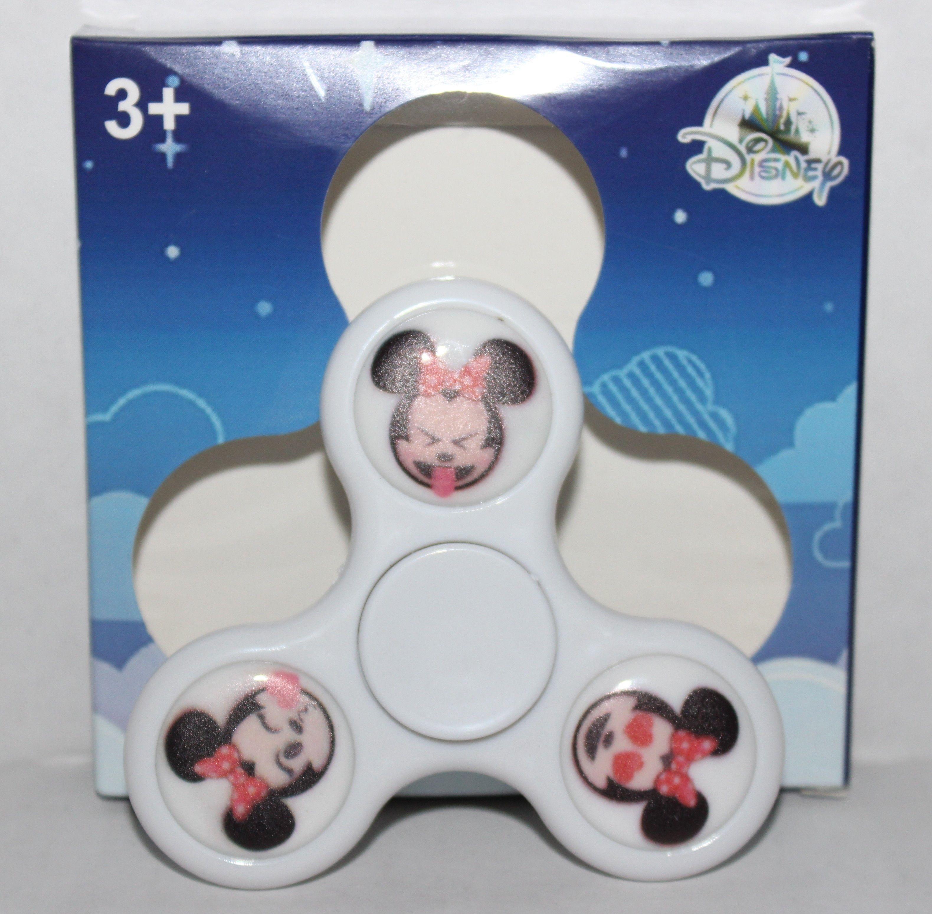 White Light Up Minnie Mouse Emoji Fidget Spinner Disney