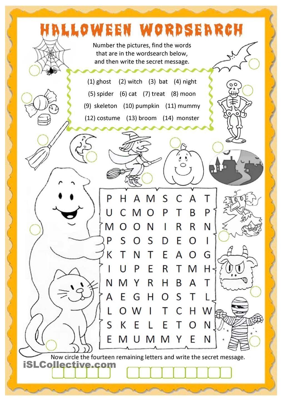 Halloween Wordsearch Worksheet Free Esl Printable Worksheets Made By Teachers Halloween Worksheets Halloween Lesson Halloween School Halloween worksheets pic word matching