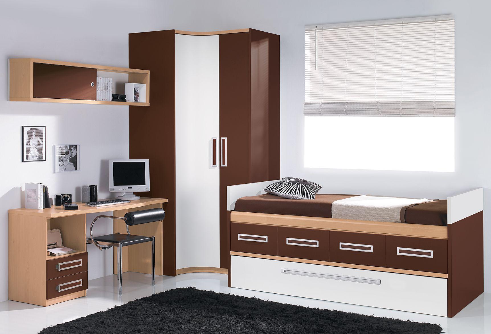 Habitaci n en blanco y marr n un color que no se pasa nunca de moda estilos de camas - Camas blancas juveniles ...