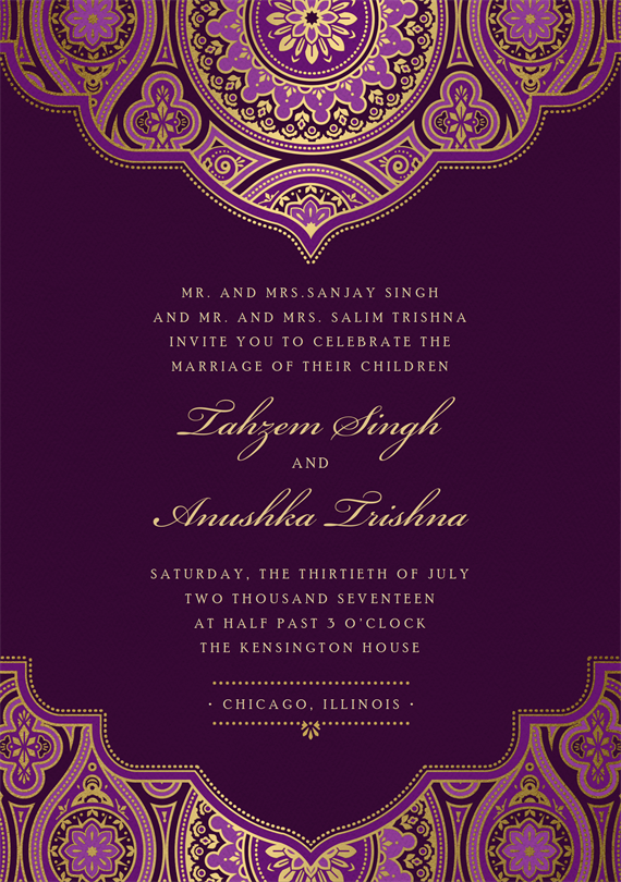 Indian Inspired By Colin Cowie Greenvelope Com Wedding Card Design Indian Indian Wedding Invitation Cards Indian Wedding Cards