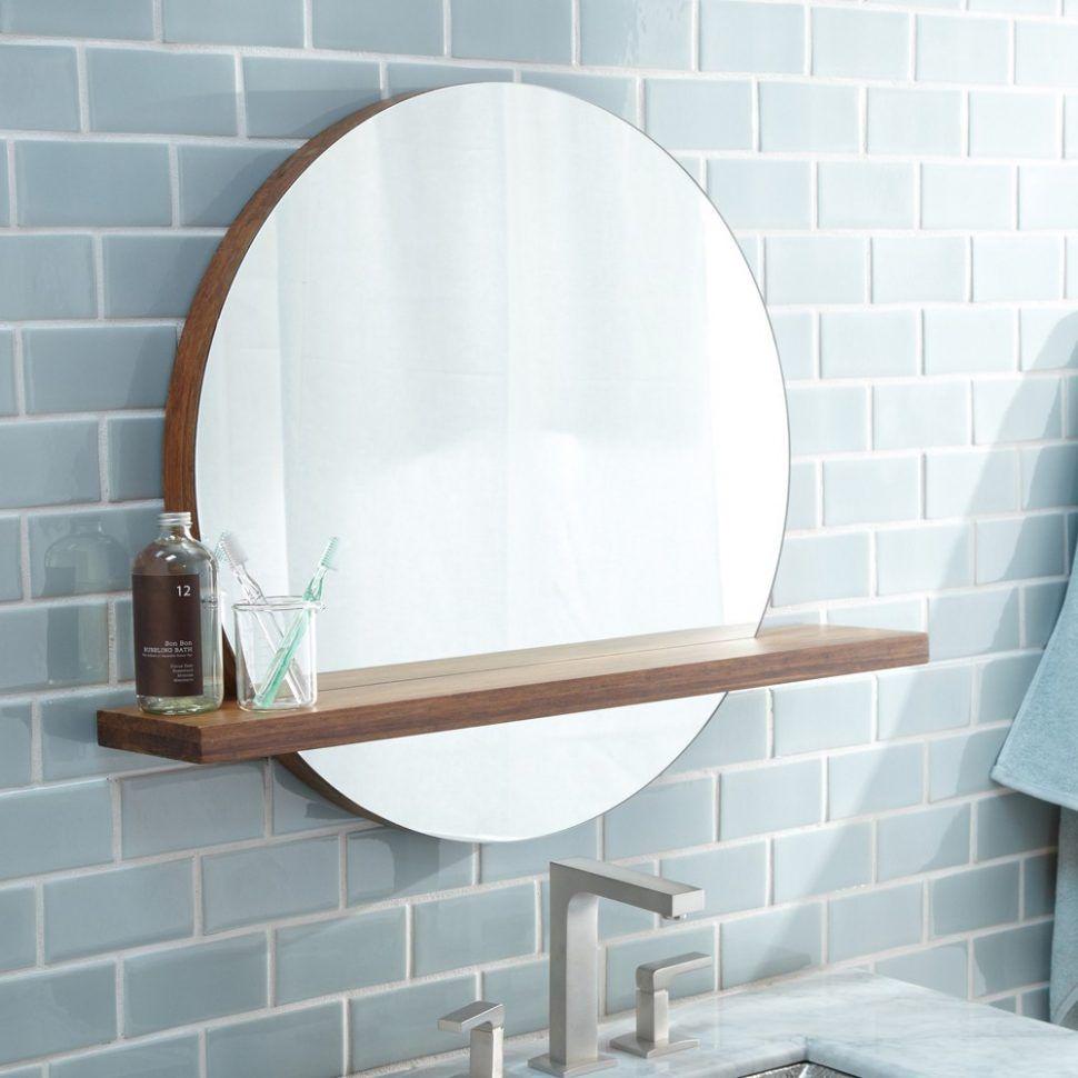 Bathroom Marvellous Bathroom Mirror With Shelf Light Bathrooms Design Bathroomror Circle Light Bathroom Mirror With Shelf Round Mirror Bathroom Bathroom Mirror