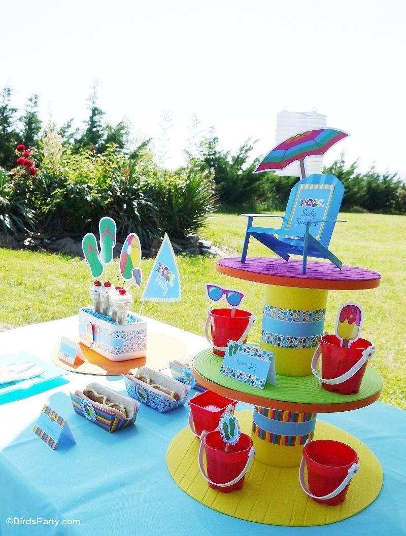 Pool party ideas kids summer printables diy decoration for Pool party dekoration