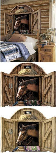 Horse Stable Door Peel And Stick Wall Mural