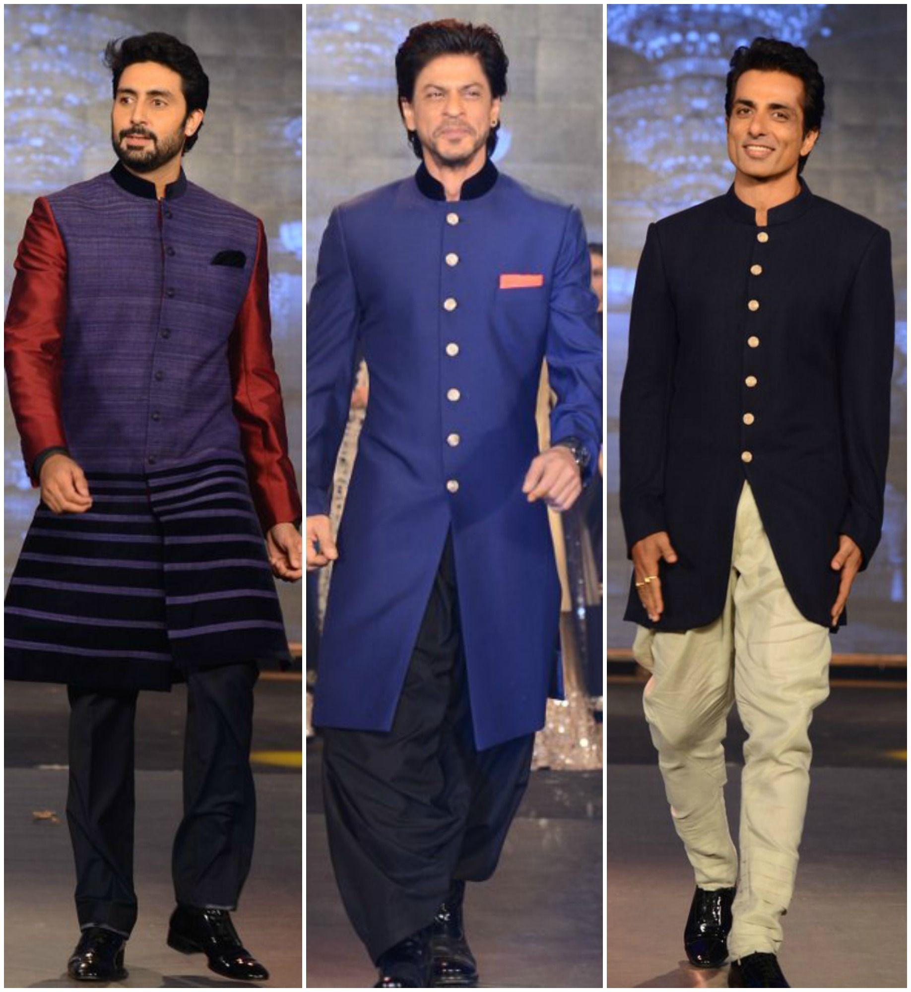 Srk abhishek sonu walk the ramp for manish malhotra mens fashion