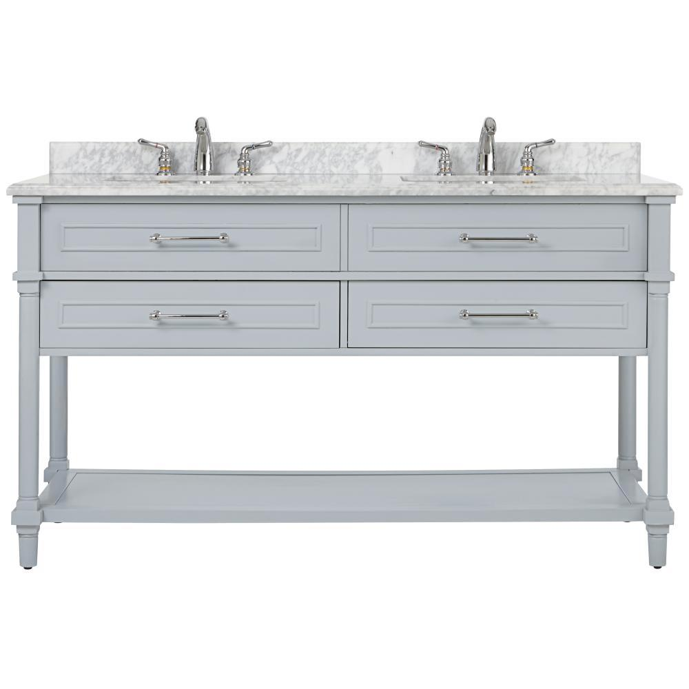 Home Decorators Collection Aberdeen 60 In W Open Shelf Double