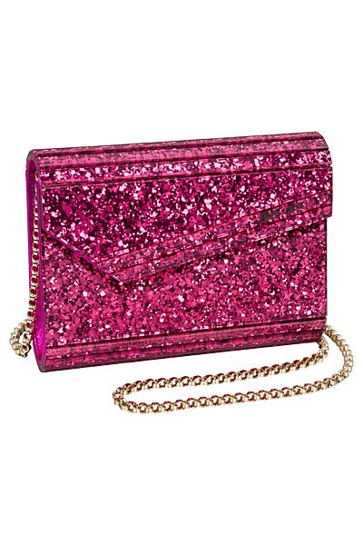 0a2a5c7c414b Sparkly Pink Clutch FROM  Jimmy Choo - Bags One - 2014 Pre-Fall ...