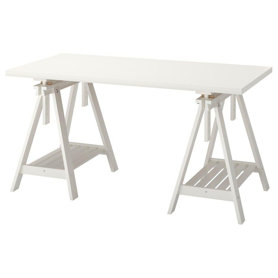 Linnmon Finnvard Tisch Weiss Ikea Deutschland Ikea Idee Deco Bureau Plateau De Table