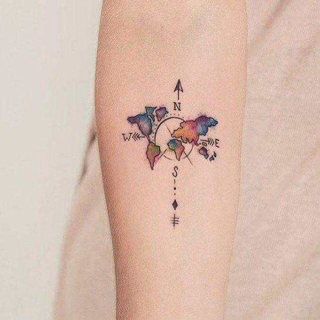 50 Tatuajes Que Nos Invitan A Viajar Tatuajes Tatuajes