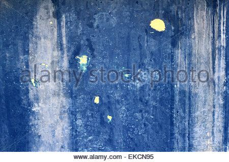 grunge blue aged wall texture background - Stock Photo