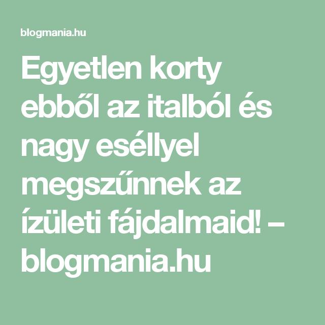 Egyetlen korty ebből az italból és nagy eséllyel megszűnnek az ízületi fájdalmaid! – blogmania.hu