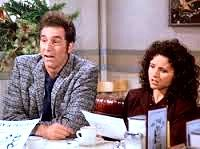 (The Fatigues) - [ELAINE reading flyers Kramer gave out]:  Jewish singles night? KRAMER: I expect you both to be there. ELAINE: I'm not Jewish. KRAMER: Well neither am I. JERRY: Well why are you going? KRAMER: I'm not, I'm running it. Lomez, he usually runs it, but he's in the Everglades. JERRY: Lomez is Jewish? KRAMER: Oh yeah. Orthodox. Old school...I'm cooking all the food myself. ELAINE [reading]:  A tempting schmear of authentic Jewish delicacies. KRAMER: Do you like tsimmis?