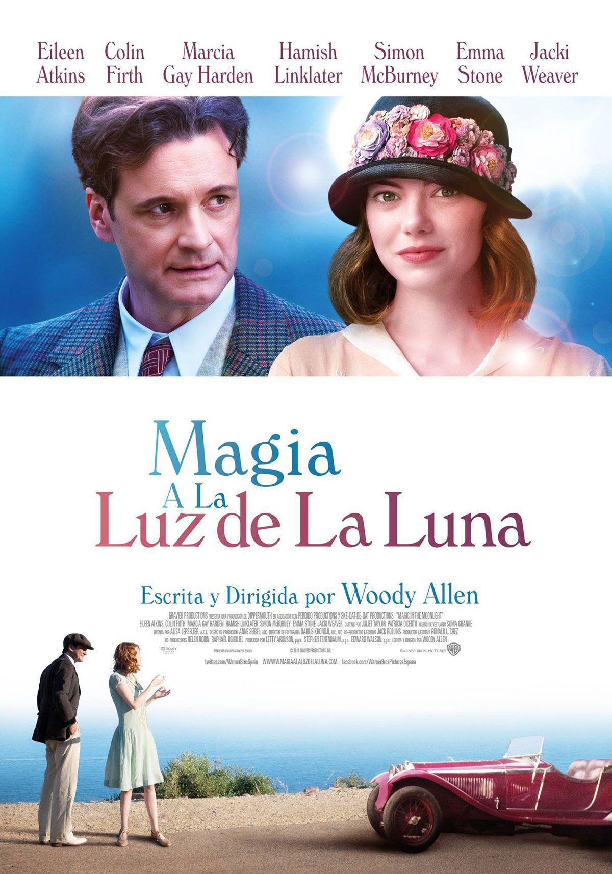 FICHA DE FILMAFFINITY TÍTULO.- MAGIA A LA LUZ DE LA LUNA TÍTULO ORIGINAL.- Magic in the Moonlight AÑO.- 2014 PAÍS.- ESTADOS UNIDOS GUIÓN Y DIRECCIÓN.- WOODY ALLEN FOTOGRAFÍA.- DARIUS...