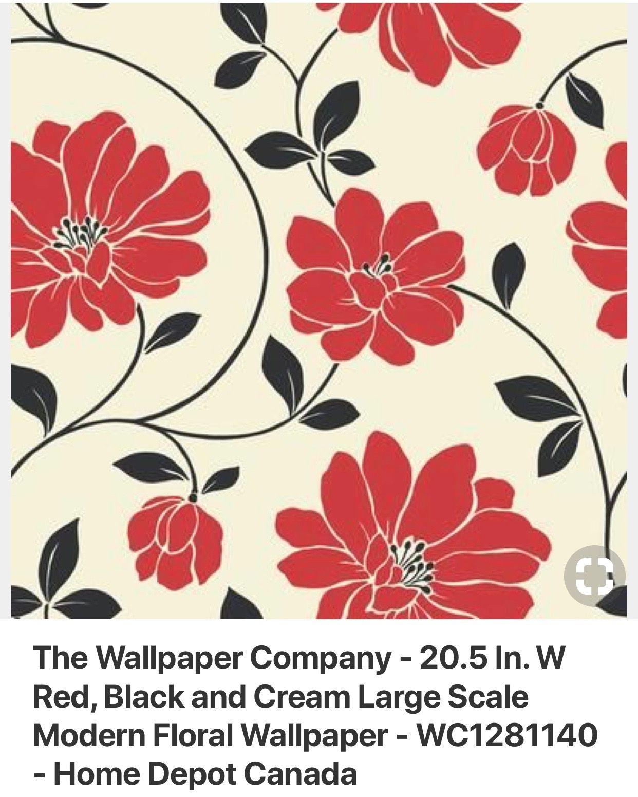 Pin By Kari Spendlove On Red Wallpaper Modern Floral Wallpaper Wallpaper Companies Floral Wallpaper