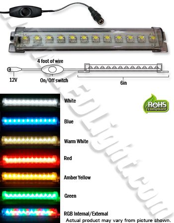 Tube Light 6 Led Low Voltage 12 Volt Dc Plug Switch Led Tube Light Led Tubes Tube Light