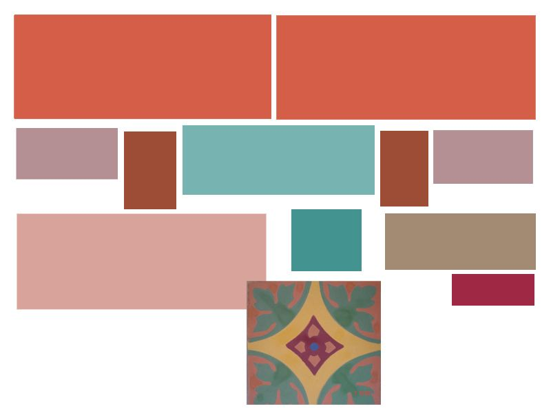 Terracotta Color Palette Created My Scheme Terra Cotta Pink Turquoise Purple And Yellow