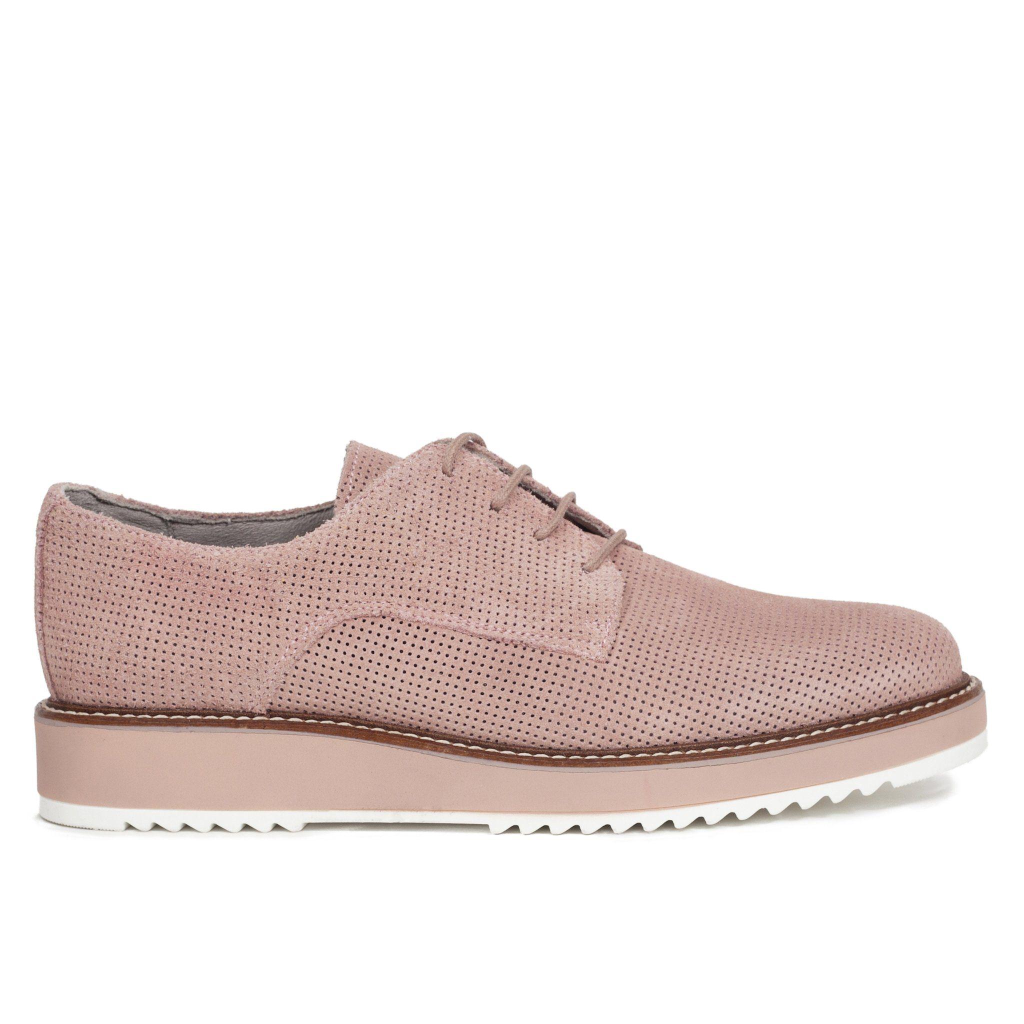 Zapato Blucher mujer Rosa Palo Piel Zapatos online miMaO