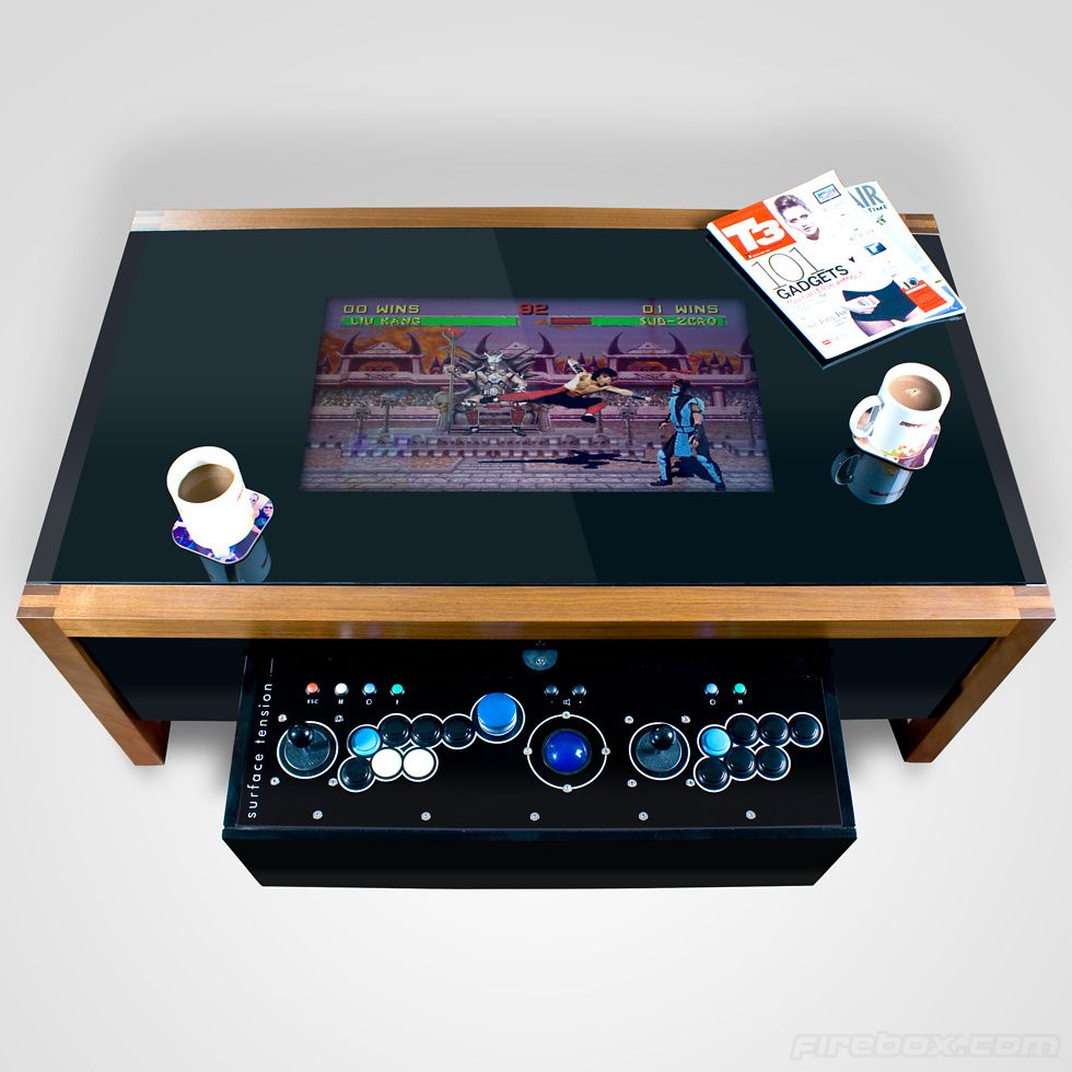 Retro Arcade Coffee Table From Surface Tension Arcade Table Retro Arcade Arcade [ 980 x 980 Pixel ]