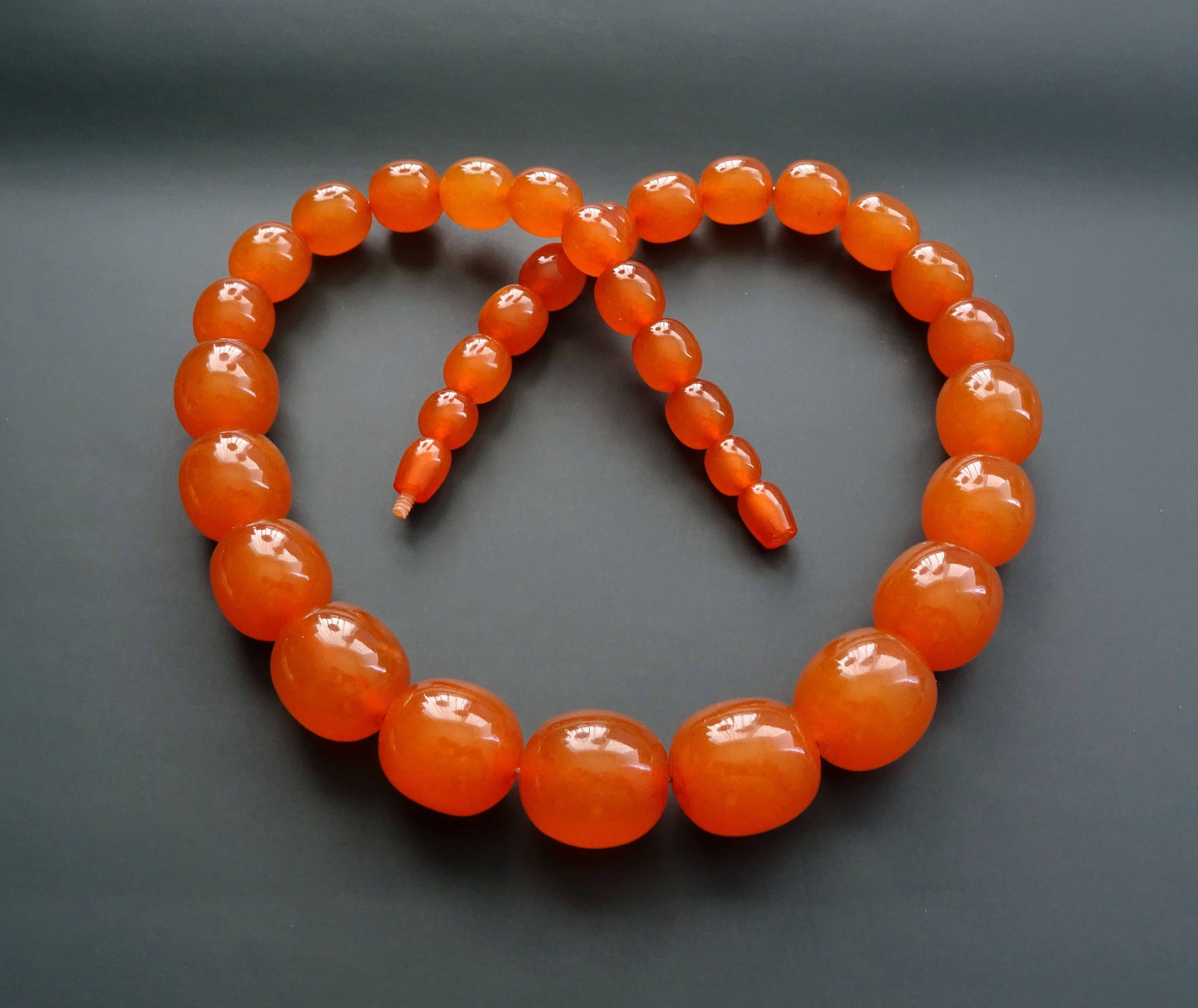 honey amber stand 55 cm 67 gr Wide bone amber necklace vintage jewelry statement jewellery not pressed natural baltic amber