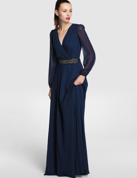 Vestidos fiesta azul noche