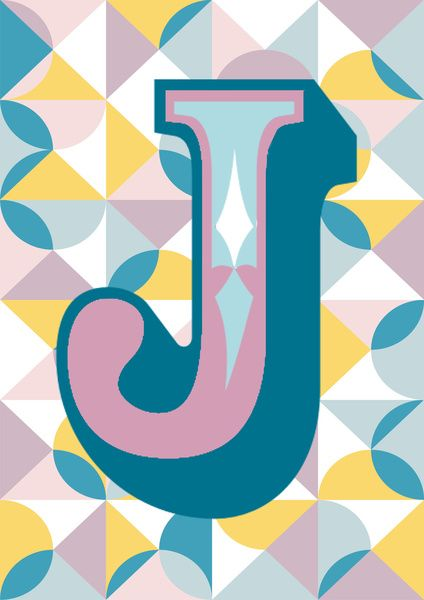 Letter J Art Print by Forhumourandhope | Typography: From A to Z - Lettre a en Alphabet