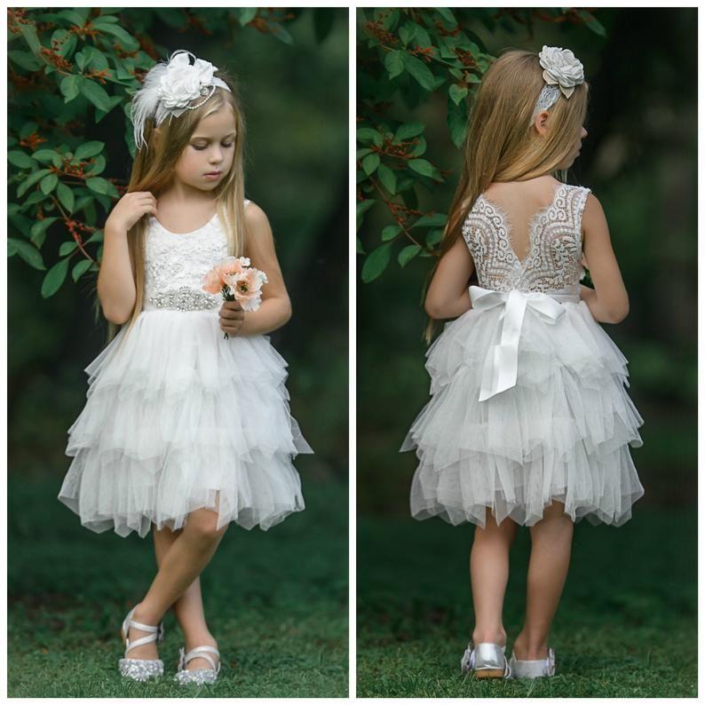Lavender flower girl dress flower girl dresses lace