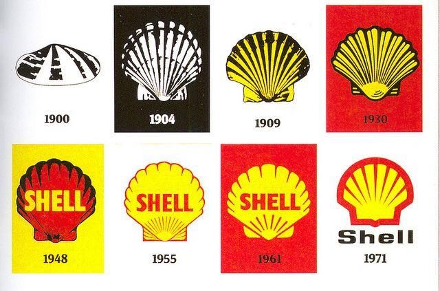Shell Oil Logo 1900 70s Shell Oil Company Shell Gas Station Shells
