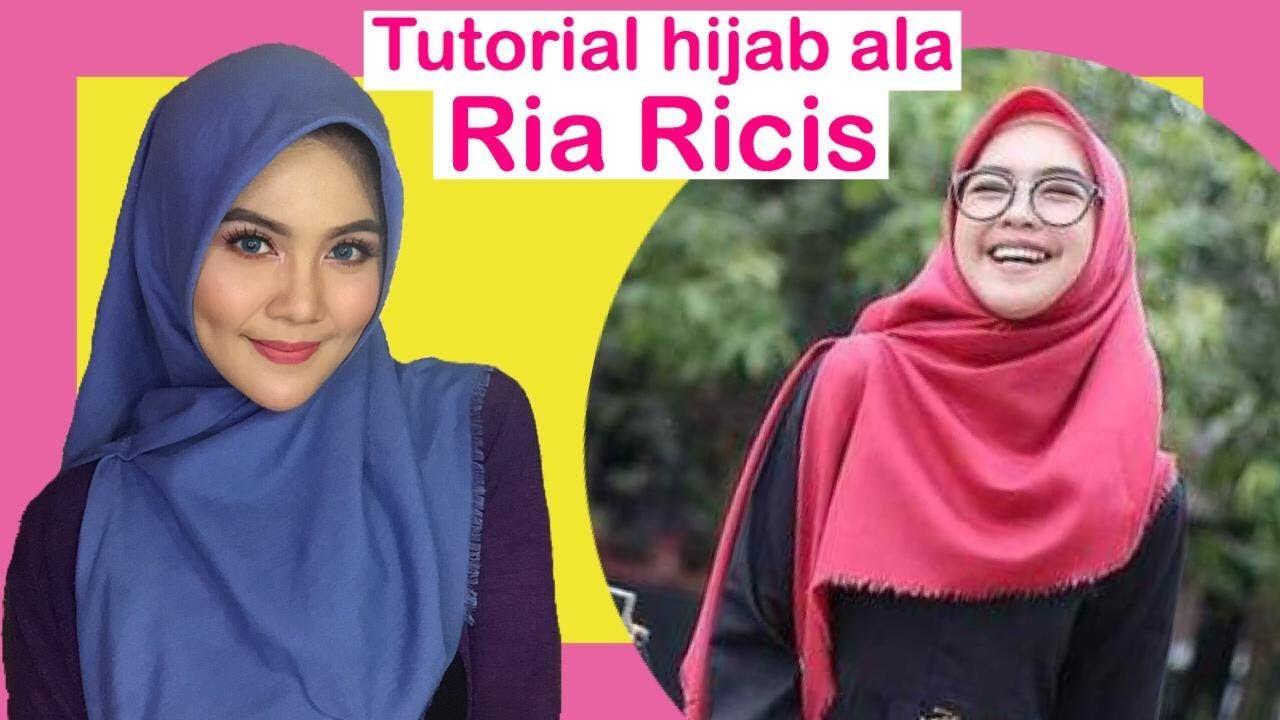 Tutorial Hijab Ala Ria Ricis Kursus Hijab Petunjuk Dada