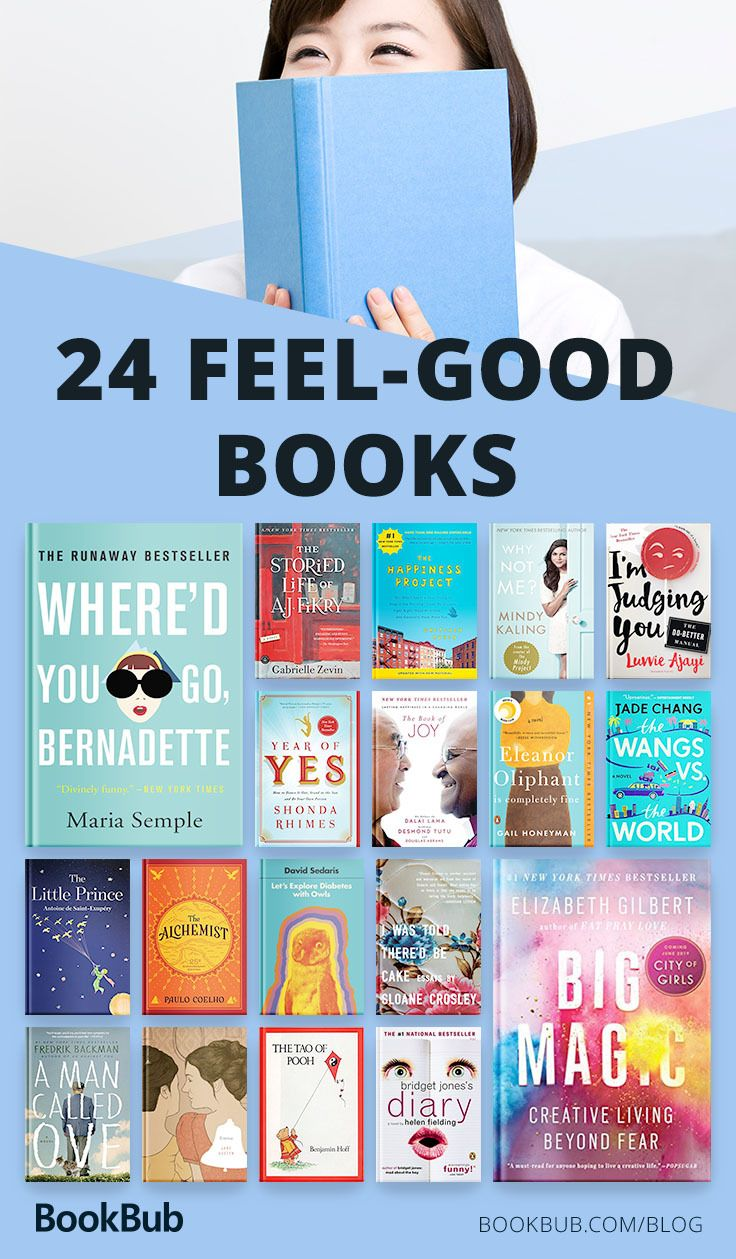 24 Feel-Good Books That Will Make You Happy #bookstoread